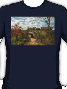 Train - Arlington, NJ - Enjoying the Autumn Day - 1890 T-Shirt