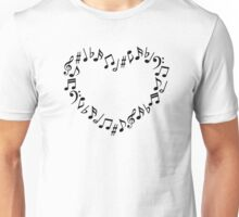 Music Notes Heart Unisex T-Shirt