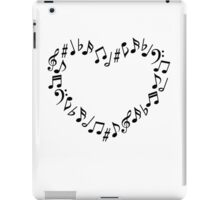 Music Notes Heart iPad Case/Skin