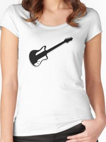 Electric Guitar Icon Symbol Women's Fitted Scoop T-Shirt