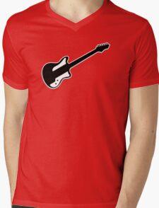 Electric Guitar Icon Symbol Mens V-Neck T-Shirt