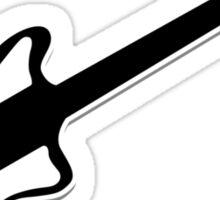 Electric Guitar Icon Symbol Sticker