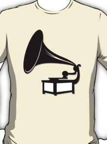 Gramophone Icon Symbol T-Shirt