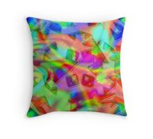 behind the walls of a snowflake Throw Pillow