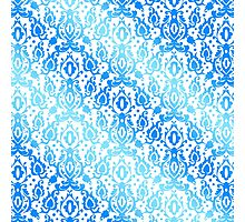 Moroccan Blue Ocean Damask Photographic Print