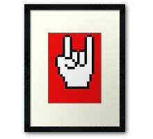 8 Bit Head Banger Symbol Framed Print