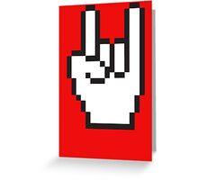 8 Bit Head Banger Symbol Greeting Card