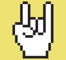 8 Bit Head Banger Symbol One Piece - Short Sleeve