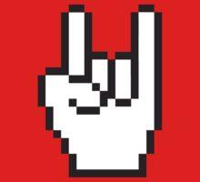 8 Bit Head Banger Symbol by popculture