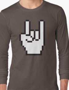8 Bit Head Banger Symbol Long Sleeve T-Shirt