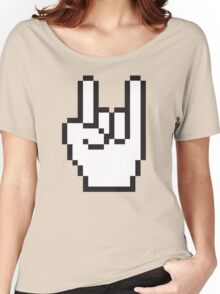 8 Bit Head Banger Symbol Women's Relaxed Fit T-Shirt