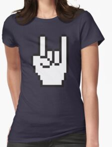 8 Bit Head Banger Symbol Womens Fitted T-Shirt