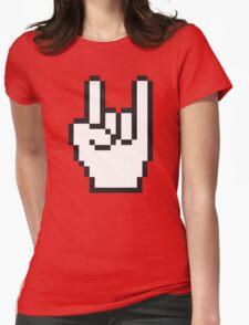 8 Bit Head Banger Symbol Womens Fitted T-Shirt