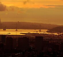 San Francisco Bay Dusk by Bob Moore