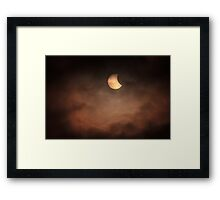 Solar Eclipse 2015 - 09.07am Framed Print