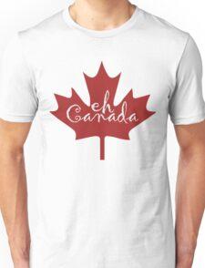 Eh Canada red maple leaf Unisex T-Shirt