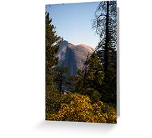 Half Dome in the middle during afternoon sun Greeting Card