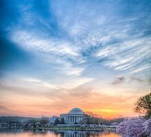 Jefferson Monument Springtime Sunrise by DanGirardPhotos