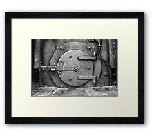 Locomotive Fuel Door Framed Print