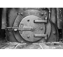 Locomotive Fuel Door Photographic Print