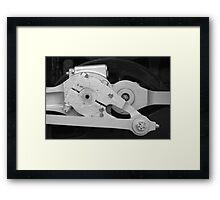 Locomotive drive mechanism Framed Print
