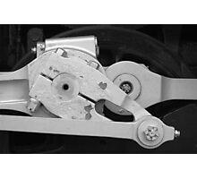 Locomotive drive mechanism Photographic Print