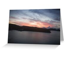 Ruby Sunset Greeting Card