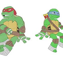 Turtle Brothers by ClumsyRobot