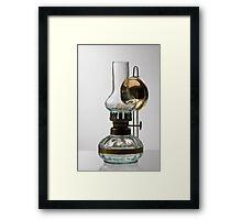 retro style glass decorative oil lamp Framed Print