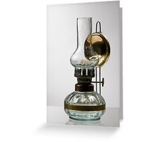 retro style glass decorative oil lamp Greeting Card