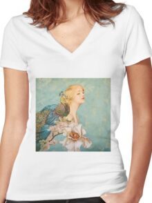 Like A Garden from The Sea Women's Fitted V-Neck T-Shirt