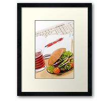 Sandwich with vegetables and juice  Framed Print