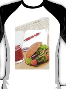 Sandwich with vegetables and juice  T-Shirt