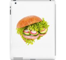 sandwich of graham roll with vegetables iPad Case/Skin