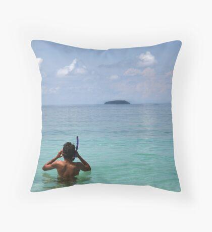Snorkelling Throw Pillow