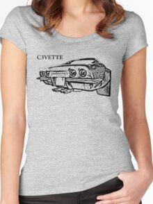 Chevrolet Corvette C3 Women's Fitted Scoop T-Shirt