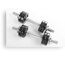 Chrome hand barbells weights  Canvas Print