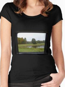 Framed Scenery Women's Fitted Scoop T-Shirt