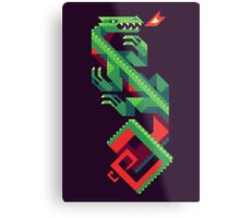 Fire Lizard Metal Print