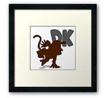 Smash Bros - Diddy Kong Framed Print