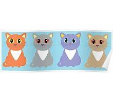 Only Four Cats Poster