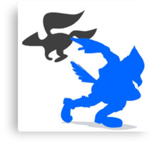 Smash Bros - Falco Canvas Print