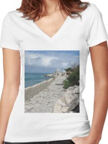 Step Up Sunny Women's Fitted V-Neck T-Shirt