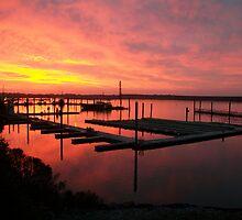 Sunset Over The Docks by Sheri Scherbarth