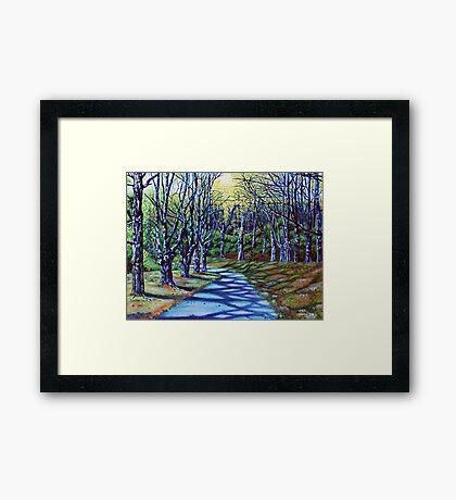 'Early Spring Morning, Bass Lake' Framed Print