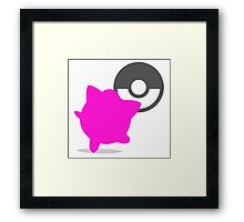 Smash Bros - Jigglypuff Framed Print