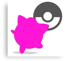 Smash Bros - Jigglypuff Canvas Print