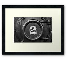 Number 2 Framed Print