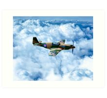 Vintage World War II Fighter Plane - P-51 Mustang Art Print