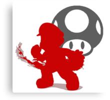 Smash Bros - Mario Canvas Print